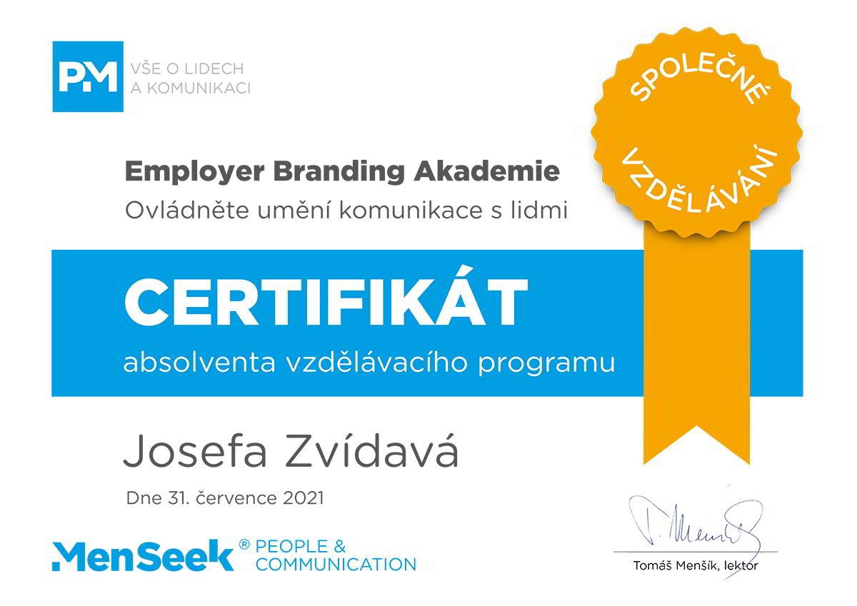 Certifikát EB akademie